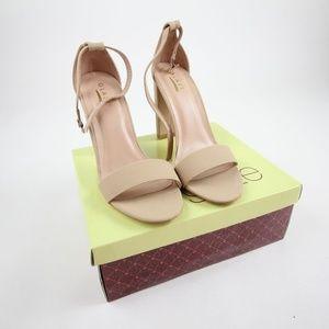 Glaze Women's Lily 1 Nubuck Strap Heels Size 7.5M